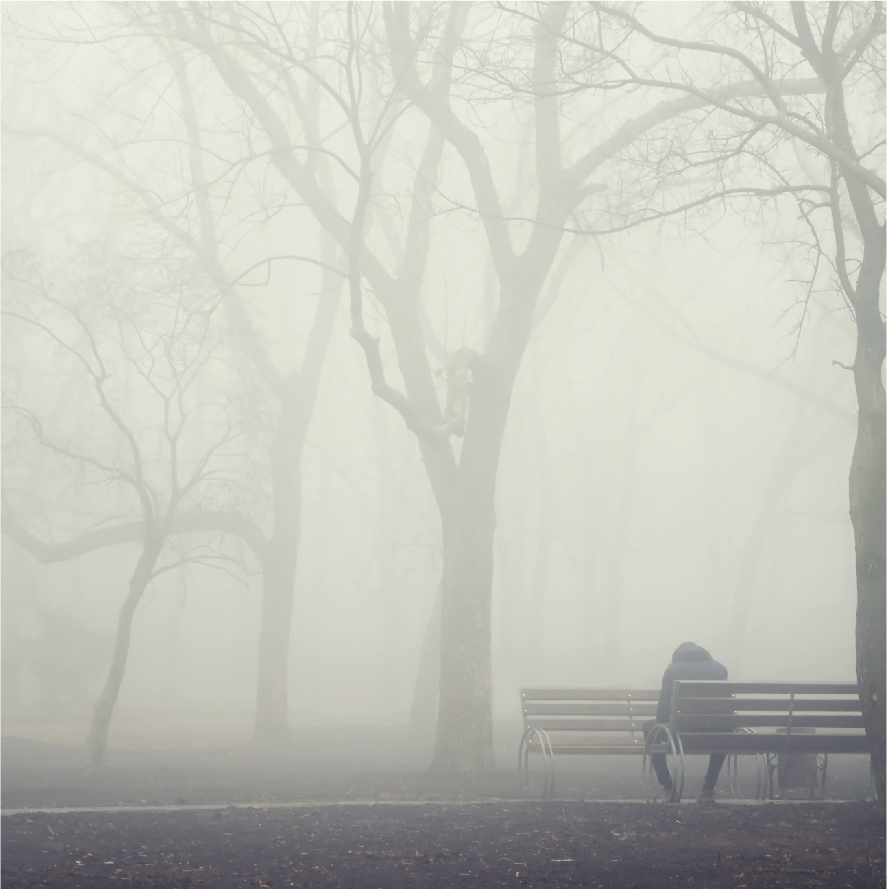 Man sitting alone in park | SCPC TMS